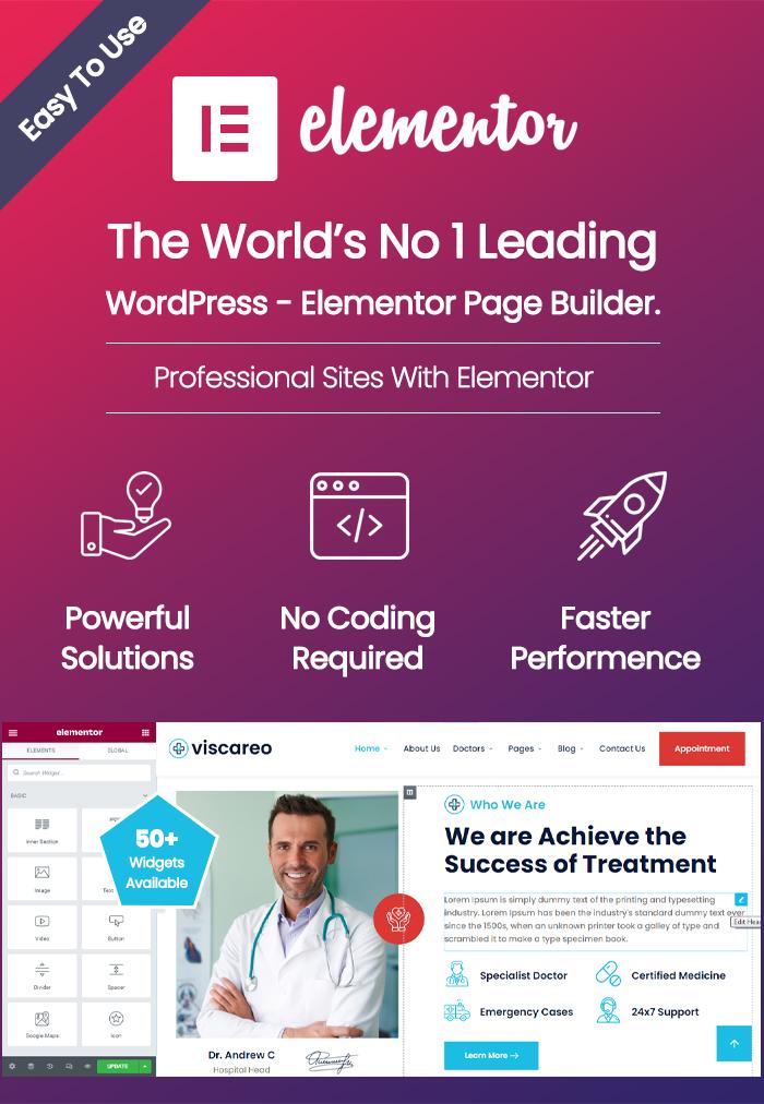 Viscareo - Hospital and Healthcare WordPress Theme - 4