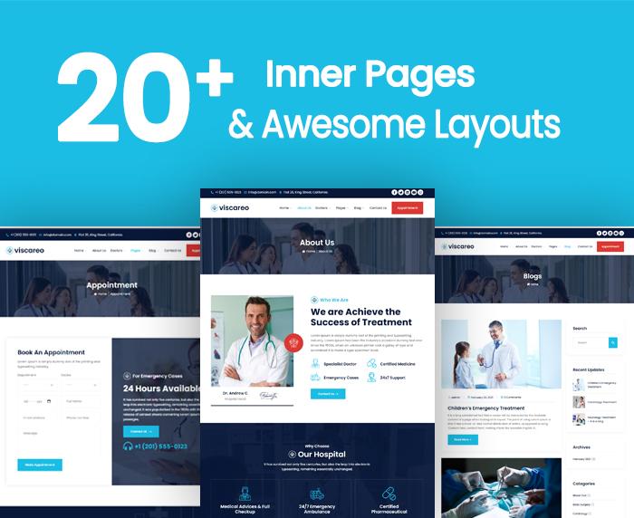 Viscareo - Hospital and Healthcare WordPress Theme - 5